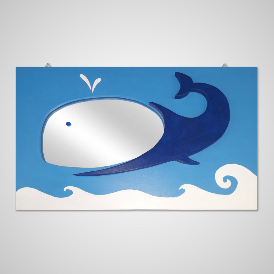 Whale Mirror Handmade Children's Bedroom Accessories